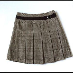 "3/$30 Pleated Houndstooth Plaids Skirt  Waist 26"""